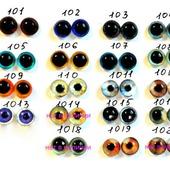 Стеклянные глазки 10 мм. для кукол и игрушек.