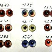 Стеклянные глазки 12 мм. для кукол и игрушек