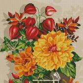 Схема вышивки Осенний натюрморт