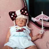"""Мастер класс """"Шапочка-парик с бантиком для новорожденной девочки"""""""