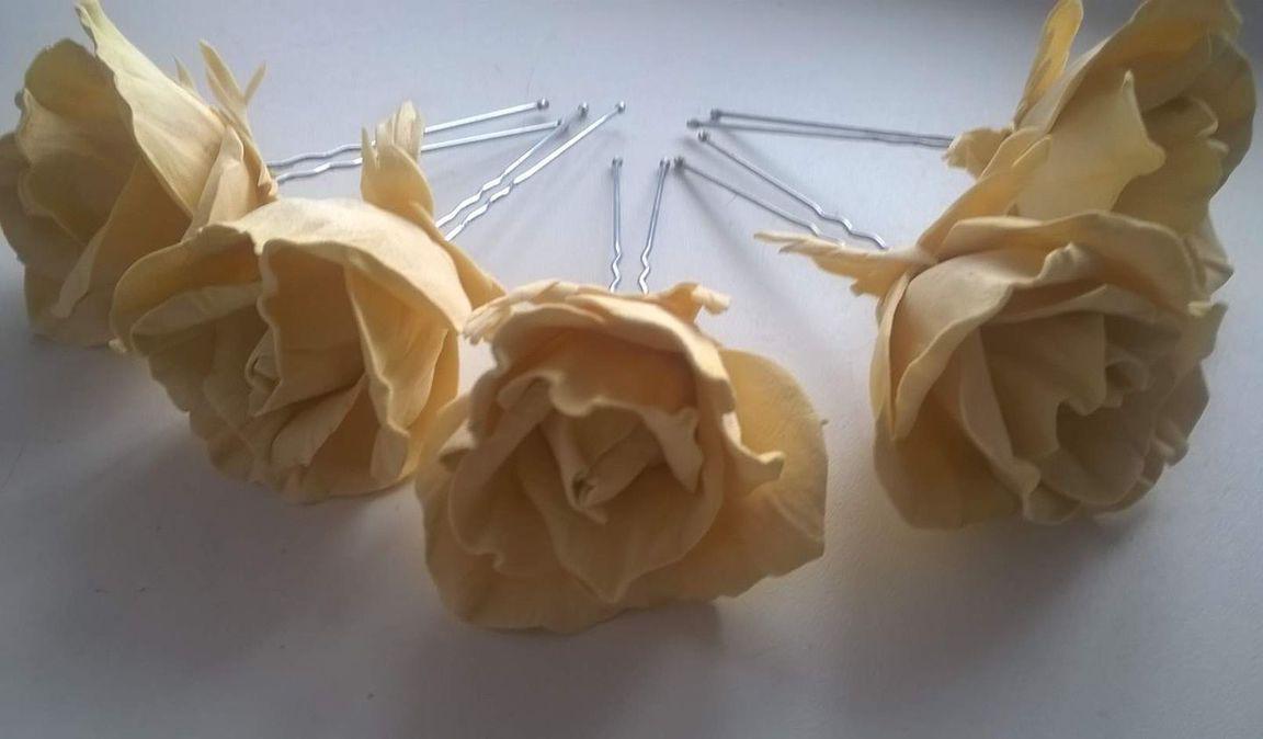 Как сделать шпилька-роза