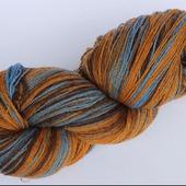 Пряжа Kauni 82 (Кауни) чистошерстяная, цвет  Artistic Brown Blue