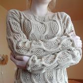 """Пуловер из хлопка """"Замок на песке"""""""