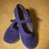 Туфли вязаные для девочки