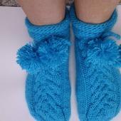 Носки вязаные Бирюза