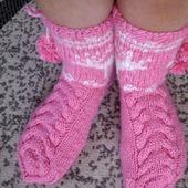 Вязаные носки Олени