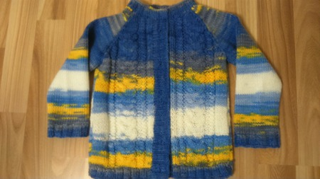 Кофточка Голубая лагуна ручной работы на заказ