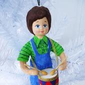 """Ватная игрушка """"Мальчик с барабаном"""""""