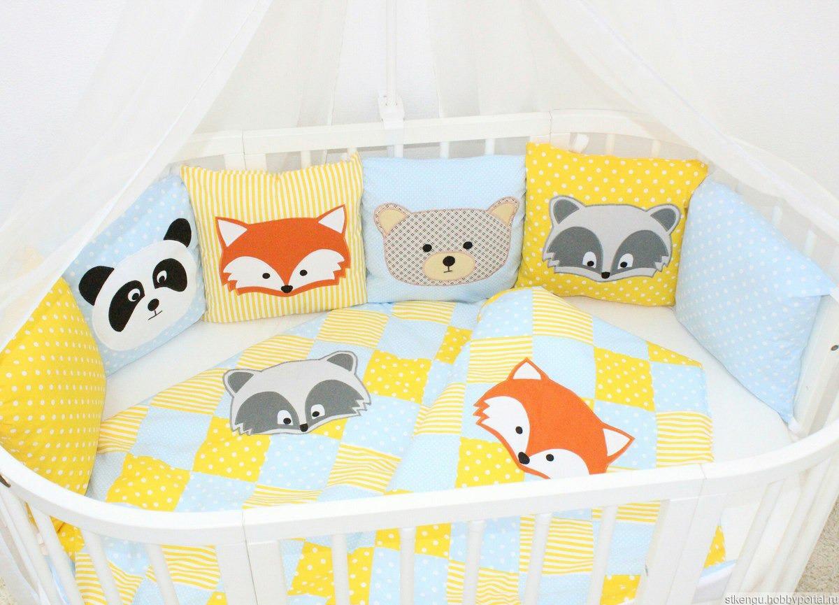 Сшить комплект на кроватку для новорожденных