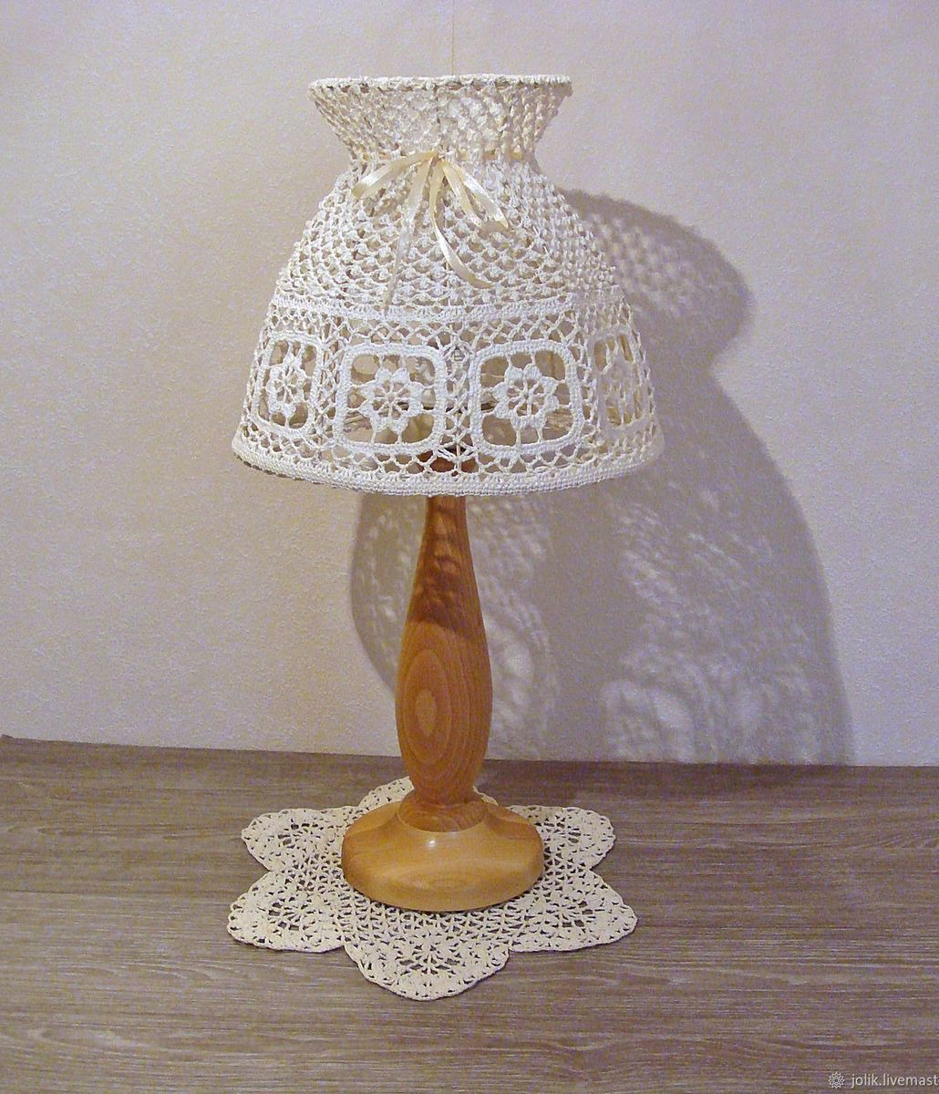 Абажур для лампы в стиле прованс своими руками