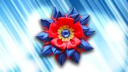Делаем нарядный цветок из атласа своими руками. Видео мастер-класс