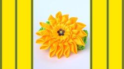 Украшаем повязочку цветком из атласных лент. Видео мастер-класс