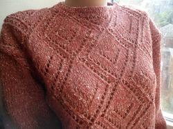 Джемпер из твидовой пряжи. Мой новый проект. 100% шерсть.Sweatshirt from tweed yarn. My new project.