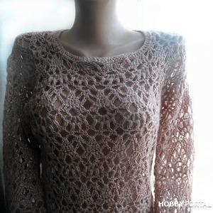 Джемпер крючком. Мой проект.Sweater crochet. My project.