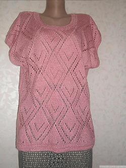 Вязаный жилет. Работа Елены Бас.Knitted vest. Elena Bas.