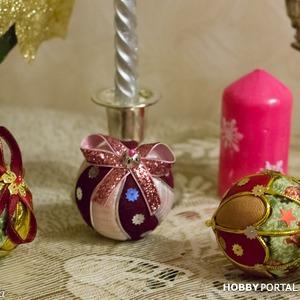 Новогодние текстильные шары своими руками