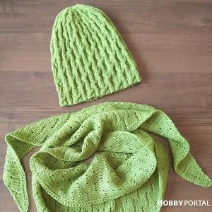 Вяжем весенее-осенний комплект - шапка и бактус