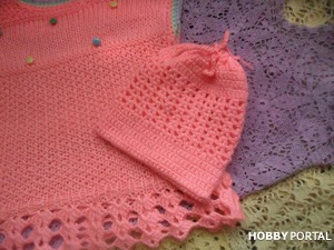 Вязаное платье для девочки. Knitted dress for girls. Пример работы