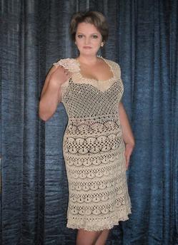 Примеры работ. Вязаные платья. Автор Елена Бас. Knitted dresses. Designer Elena Bas.