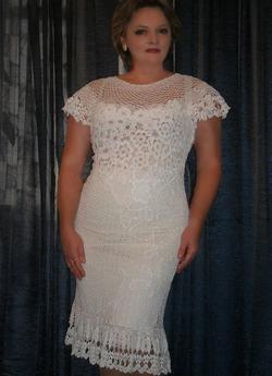 Для примера, идея. Вязаное платье. Автор Бас Елена.Knitted dress. Author Bas Elena.