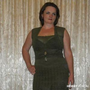 Вязаное платье. Автор Елена Бас. Knitted dress. Author Elena Bas. Идея, пример.