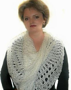 ПАЛАНТИН СПИЦАМИ.Knitted wide scarf