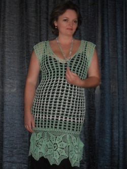 Вязаная туника. Автор Елена Бас.Knitted tunic. Author Elena Bas
