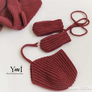 Вяжем крючком рукавички для самых маленьких