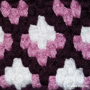 Разновидность жаккарда крючком или кирпичное вязание.
