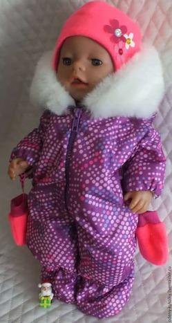 Зимний костюм для куклы