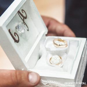 Шкатулка свадебная для обручальных колец