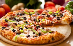 Пицца очень простая