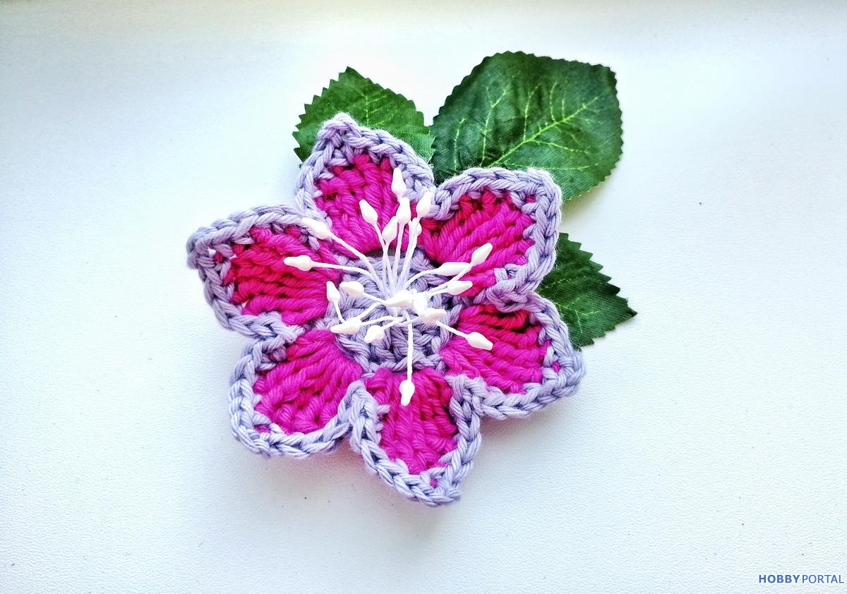цветы крючком мастер класс на Hobbyportalru