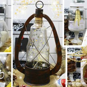 Идеи декора из стеклянных банок своими руками (Зимне-новогодние примеры)