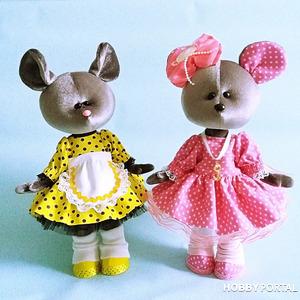 Текстильные куклы для подарка.