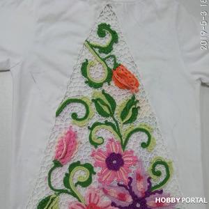 Цветочная композиция в технике ирландского кружева для декорирования одежды