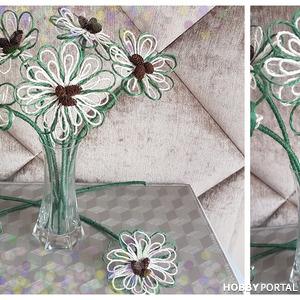 Делаем цветочки для декора из джута