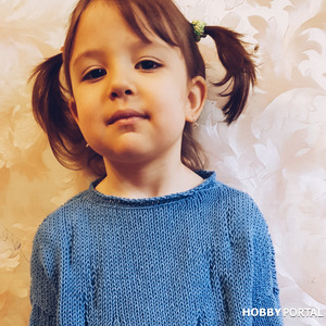 Модный джемперок для девочки