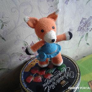 Лисичка игрушка амигуруми