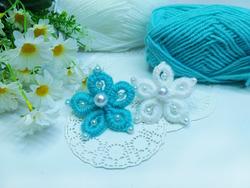 Цветы из пряжи БЕЗ спиц и крючка ( шьем иголкой )
