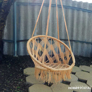 Плетем подвесное садовое кресло (качели) в технике макраме