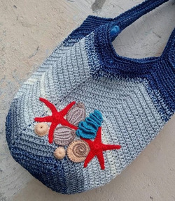 Большие и вместительные пляжные сумки крючком - идеи для вязания и вдохновения