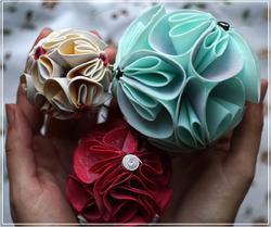 Цветочные шары из фоамирана
