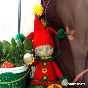 Кукла сплюшка-Петрушка