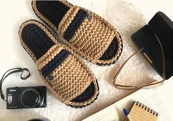 Обувь крючком из трикотажной пряжи и шнура - идеи для вязания и вдохновения