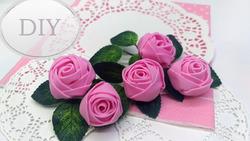 Розы из фоамирана за 2 минуты ( еще один быстрый способ)