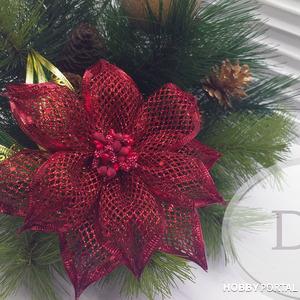 Рождественская звезда или пуансетия за пару минут