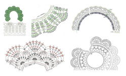Ажурные вязаные воротнички - схемы для вязания