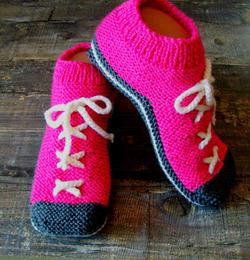 "Вязаные носки ""БУТCЫ"". Спицами."