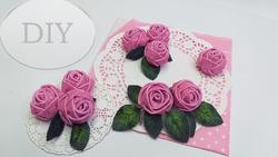 Розы из глитерного фоамирана за 2 минуты